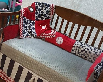 Baseball crib bedding | Etsy
