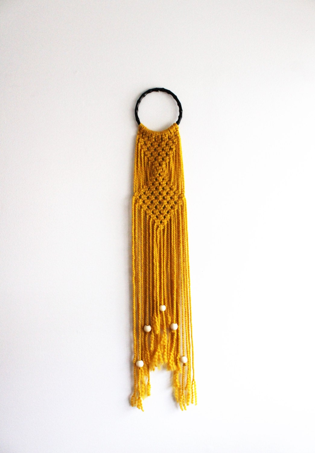 macrame hoops sunflower yellow macrame hoop wall hanging with 6901