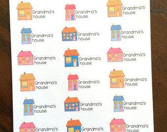 Grandma's House Planner Stickers - Grandma Stickers - Family Time Stickers - Grandma's Planner Stickers - Family Stickers