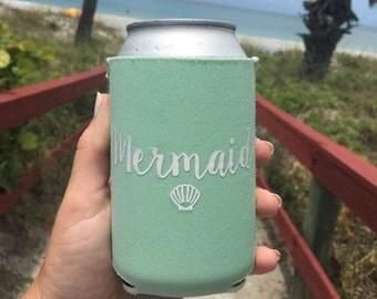 Mermaid Can Cooler, Neoprene Beach Coolie