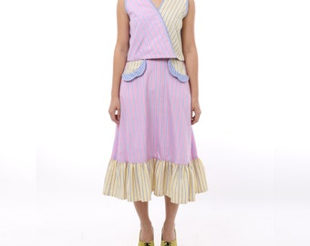 Naya Striped Skirt Pink Yellow