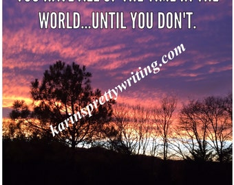 Sunset Quote Photo
