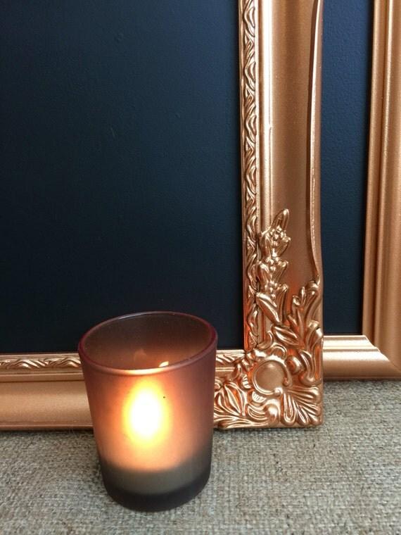 COPPER CHALKBOARD FRAME - Copper Ornate Blackboard / Rose Gold Framed Chalk Board / Copper Message Board / Copper Retail Sign / Copper Decor