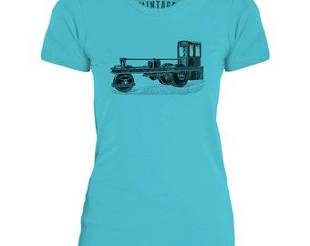 Mintage Steam Car  Womens Fine Jersey T-Shirt
