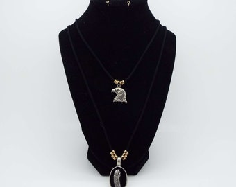 Eagle and Feather Necklace