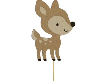 Baby Deer Cupcake Toppers - Set of 12