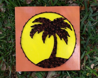 Palm Tree String Art Made to Order Home Decor
