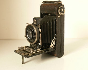Kodak No.1 Series III (3) Special Autographic Folding Bellows Camera - With Carl Zeiss Tessar Lens - 1930's
