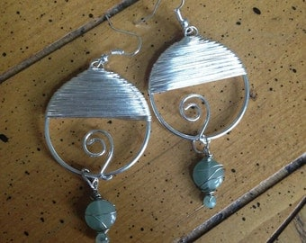 Wire Wrapped Silver Hoop