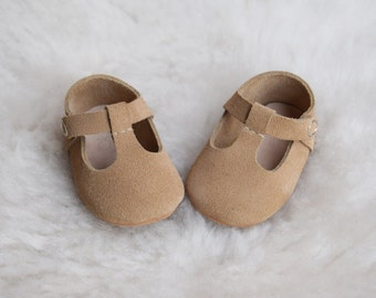 Beige baby shoes | Etsy