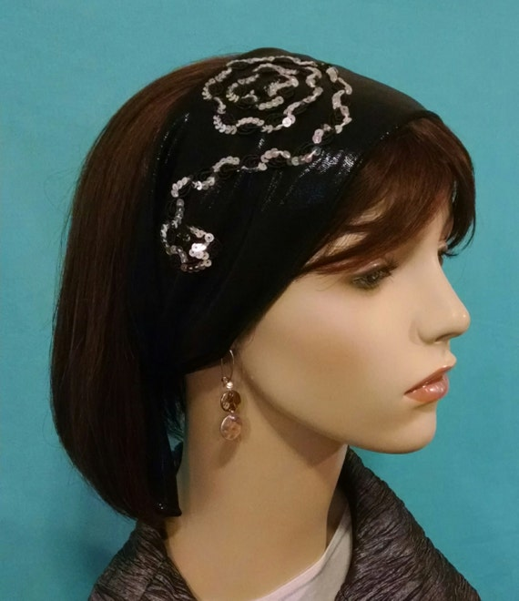 FLORAL ARTISTRY stretch leatherette headband