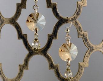 Golden Shadow Pinwheel Earrings - E2678