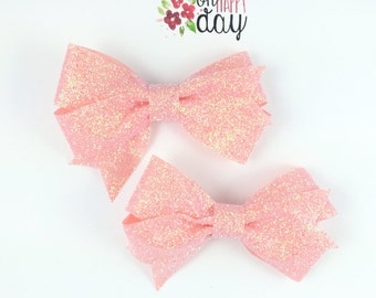 pink glitter bows pink pigtail bows pink bows glitter bows pigtail bows girls hair bows pink hair clips girls hair clips glitter hair clips