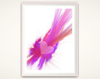 Girly Wall Art Feminine Wall Art Printable Pink Art Girls Bedroom Decor