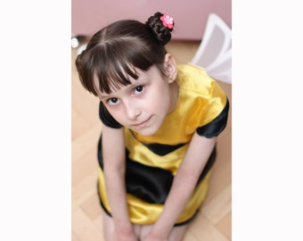 Bumble Bee Halloween Costume Dress - Kids Costume - custom size - 12M, 18M, 2T, 3T, 4T
