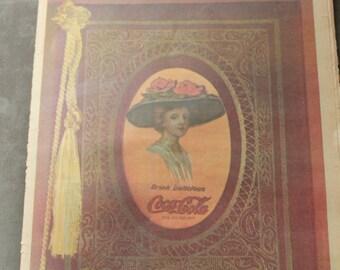 75th Coca-Cola Anniversary Supplement, Coke Memorabilia, Coca-Cola Newspaper, Coke Collectables, Coca-Cola Paper, Vintage Coke Memorabilia