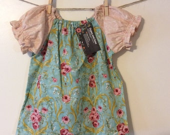 READY TO SHIP**Vintage Inspired Toddler Peasant Dress*Elegant*Roses*Spring*Boutique Style*6-9M*3/4*4/5**