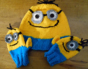 """Caps and mitts """"Les Minions"""""""