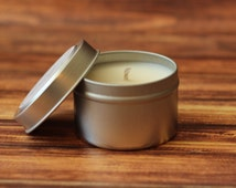 Travel Tin Soy Candle, Handmade Soy Candle, Non-Toxic Soy Candle, Choose Scent, 4oz Tin, Vegan Candle, Handpoured, Eco-Friendly