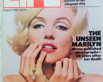 Life Magazine August 1982 The Unseen Marilyn, never before seen photographs by Bert Stern