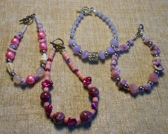 Lavender & Silver Accent Bracelet
