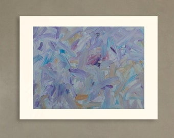 blue oil painting | abstract painting | purple painting |