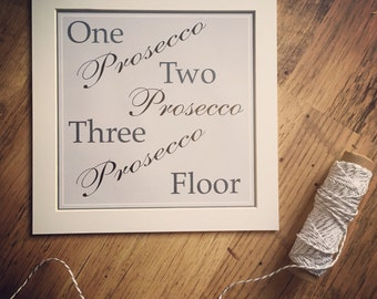 Prosecco Print Mounted Word Art