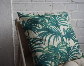 PALM TREE PILLOW, tropical pillow case cover