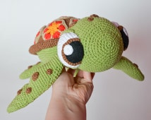 Crochet PATTERN -sea turtle by Krawka,  turtle, tortoise, sea creature, cute,