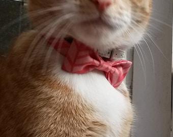 Cat collar - cute bowtie with elastic