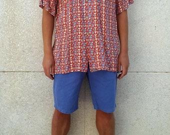 Vintage Geometric Print Shirt