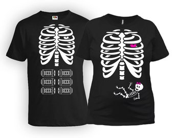 Maternity Halloween Costumes His And Her Shirts Couples T Shirt Expecting Announcement Pregnancy Clothing Mother To Be New Dad MAT-2-168
