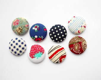 8 Pin Back Buttons | Flat Backs