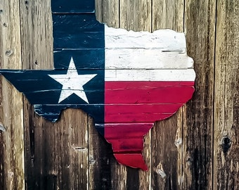 Texas Flag Wall Art - Reclaimed Wood Texas - Wooden Texas Flag - Rustic Wooden Signs - Texas Home Decor - Wood Texas Flag - Reclaimed Wood