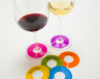 Wine Glass Charms 6pk-that really work, write on with a ballpoint pen