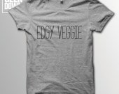 Edgy Veggie Vegan tshirt tee  vegan tshirts  vegan clothing  vegan shirt  vegetarian  animal rights
