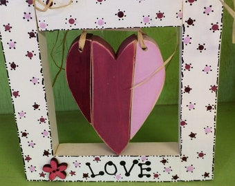 Framed Heart in Pink