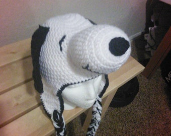 Crochet snoopy hat crochet dog hat