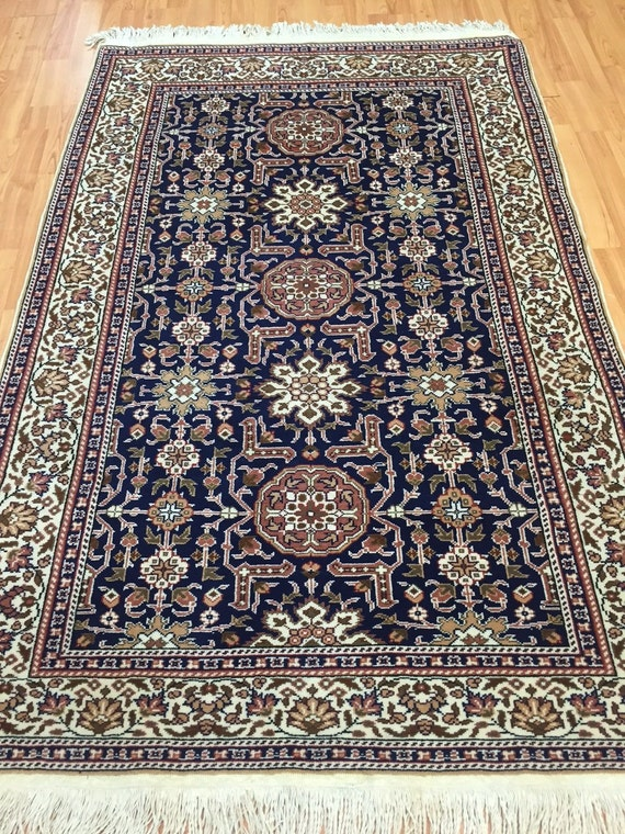 4' x 6' Persian Ardabil Serapi Design Oriental Rug - Hand Made - Full Pile - 100% Wool
