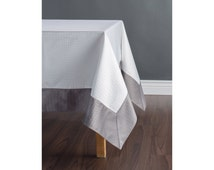 Custom table cloth - croc print tablecloth - Choose your color and border - Free shipping in US