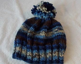 Child's Knitted Pompon Hat