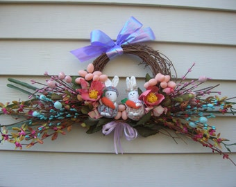 easter wreath spring wreath easter bunny wreath easter egg wreath