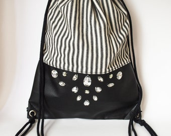 backpack stripes with crystals : ONLY PIECE