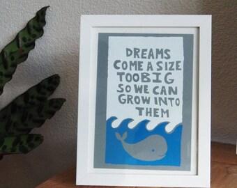 Whale screenprint