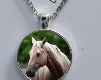 Sweet beautiful steampunk horse, pony pendant necklace