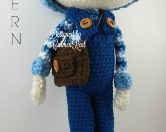 Oscar - Amigurumi Doll Crochet Pattern PDF