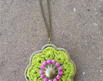 Croched Lime Necklace (#73)