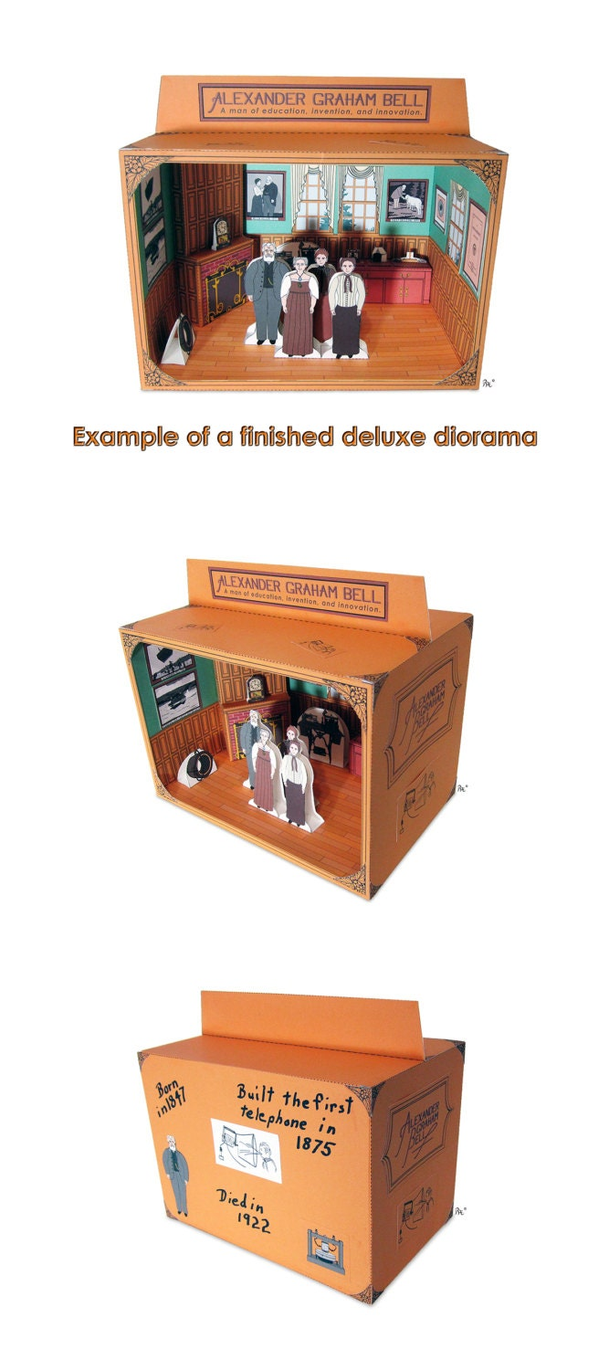 alexander graham bell diorama educational paper toy kit alexander graham bell diorama educational paper toy kit 128270zoom