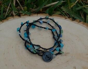 Bracelets, Beaded Bracelets, Boho Bracelets, Crocheted Bracelets, Crocheted Wrap Bracelets, Wrap Bracelets,