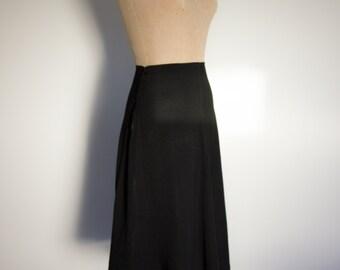 1940s Classic Black Crepe Skirt